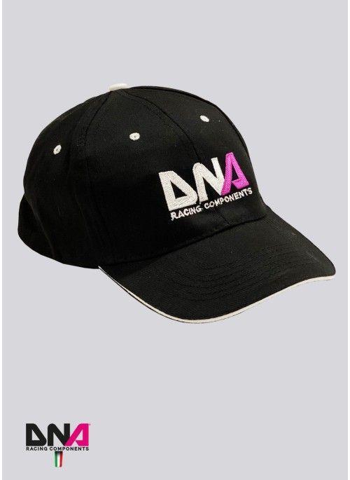Cappellino nero unisex con logo ricamato DNA Racing Components